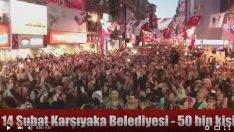 14 Şubat 2014 – 50 bin kişi – Karşıyaka'ya kar yağdı