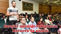 Gençler işsizliğe bakışlarını Bornova'da anlattı