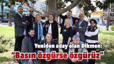 Dikmen: Basın özgürse özgürüz