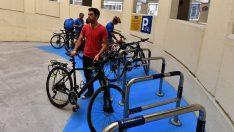 Bisikletler için yeni park yerleri