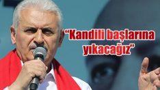 """Yıldırım İzmir'de konuştu: """"Kandili başlarına yıkacağız"""""""