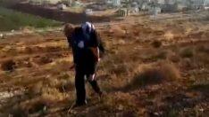 Polis yaralı Suriyeliyi 2 kilometre sırtında taşıdı