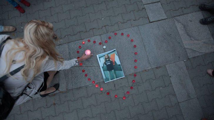 Bulgaristan gazeteci Marinova için yasta