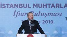 Erdoğan: Muhtarlığın diğer seçimlerden ayrılmasında yarar var