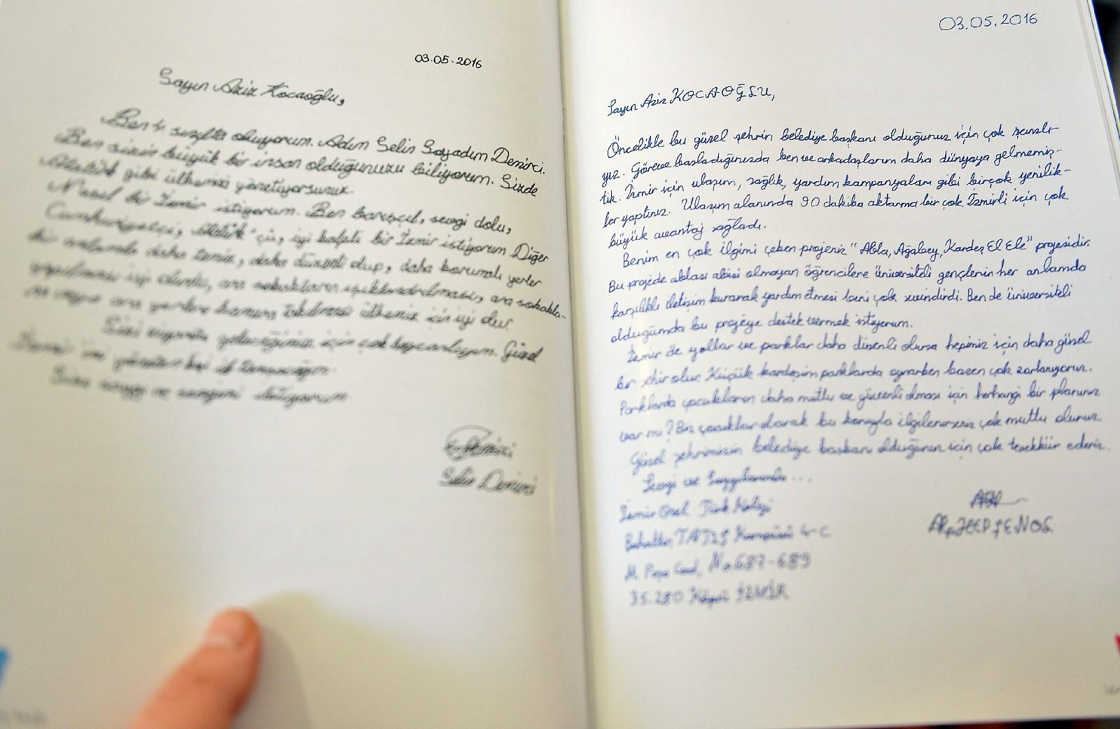 İzmirli miniklerden Başkan'a mektuplar