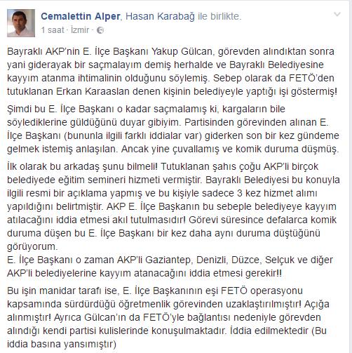 Kayyum atama iddialarına Başkan Alper'den Cevap Gecikmedi