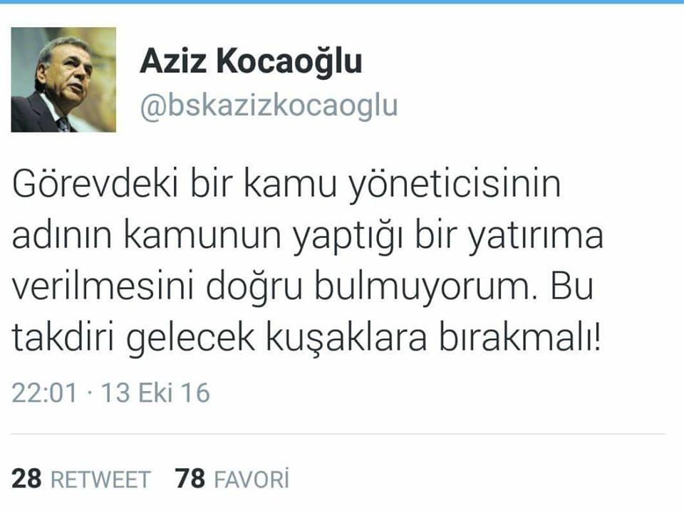 Başkan Kocaoğlu stada isminin verilmesine ne tepki verdi?