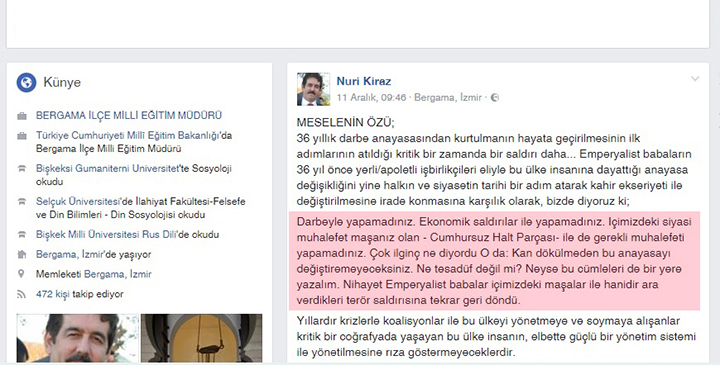İzmir'de müdürün yazdıkları CHP'yi harekete geçirdi...