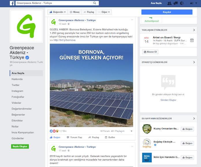 Greenpeace Bornova'yı tüm dünyaya örnek gösterdi
