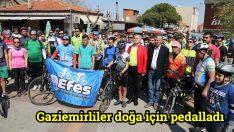 Gaziemirliler doğa için pedalladı