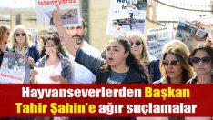Hayvanseverlerden Başkan Tahir Şahin'e ağır suçlamalar