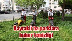 Bayraklı'da parklara bahar temizliği