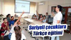 Suriyeli çocuklara Türkçe eğitimi