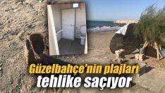 Güzelbahçe'nin plajları tehlike saçıyor