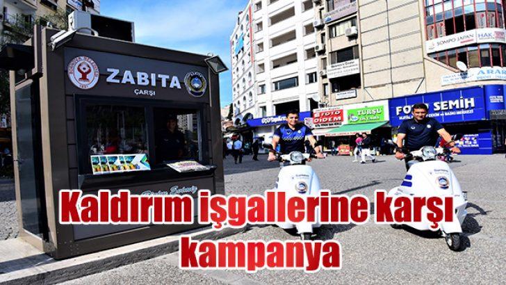 Kaldırım işgallerine karşı kampanya