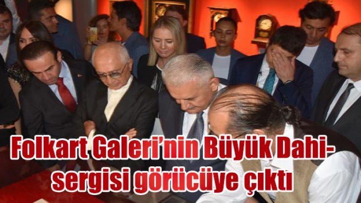 Folkart Galeri'nin, 'Büyük Dahi Gazi Mustafa Kemal'adlı sergisinde görücüye çıktı