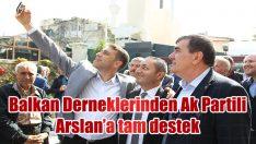 BALKAN DERNEKLERİNDEN  ARSLAN'A TAM DESTEK