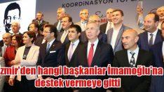 İzmir'den İmamoğlu'na destek