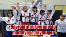 BAYRAKLI TAEKWONDO'DA MADALYAYA DOYMUYOR
