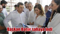 Başkan Batur, projeleri yerinde inceliyor!